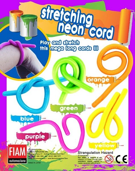 stretching neon cord